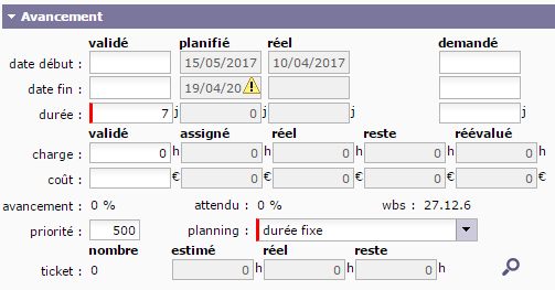 how to change project planned start date in primavera